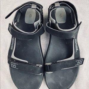 e1018416b984 Teva Shoes - Teva Minam Men s Black Leather Sport Sandals 13